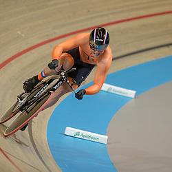 04-03-2018: Wielrennen: WK Baan: Apeldoorn<br />Theo Bos plaatst zich als derde voor de finale kilometer