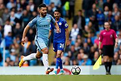 Sergio Aguero of Manchester City - Mandatory by-line: Matt McNulty/JMP - 13/05/2017 - FOOTBALL - Etihad Stadium - Manchester, England - Manchester City v Leicester City - Premier League