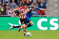 (L-R) Hirving Lozano of PSV, Guus Til of AZ Alkmaar