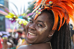 London, August 28 2017. Day Two of the Notting Hill Carnival, Europe's biggest street party held over two days of the August bank holiday weekend, attracting over a million people. © Paul Davey.