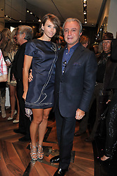 RAFFI & JO MANOUKIAN at a party hosted by Roberto Cavalli to celebrate his new Boutique's opening at 22 Sloane Street, London followed by a party at Battersea Power Station, London SW8 on 17th September 2011.