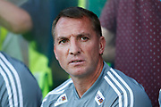 Brendan Rodgers Manager of Leicester City during the Pre-Season Friendly match between Scunthorpe United and Leicester City at Glanford Park, Scunthorpe, England on 16 July 2019.