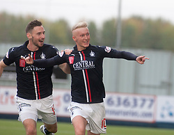 Falkirk's Craig Sibbald cele scoring their first goal. Falkirk 2 v 1 Dunfermline, Scottish Championship game played 15/10/2016, at The Falkirk Stadium.