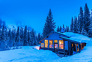 The Lindley backcountry hut in Ashcroft, Colorado.