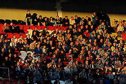 Cardiff City fans look on in the sun - Photo mandatory by-line: Dougie Allward/JMP - Mobile: 07966 386802 19/08/2014 - SPORT - FOOTBALL - Cardiff - Cardiff City Stadium - Cardiff City v Wigan Athletic - Sky Bet Championship