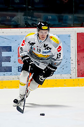 26.02.2016, Ice Rink, Znojmo, CZE, EBEL, HC Orli Znojmo vs Dornbirner Eishockey Club, Viertelfinale, 1. Spiel, im Bild Dustin Sylvester (Dornbirner Eishockey Club) // Dustin Sylvester (Dornbirner Eishockey Club) during the Erste Bank Icehockey League 1st quarterfinal match between HC Orli Znojmo and Dornbirner Eishockey Club at the Ice Rink in Znojmo, Czech Republic on 2016/02/26. EXPA Pictures © 2016, PhotoCredit: EXPA/ Rostislav Pfeffer