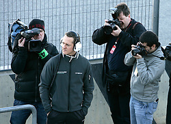 VALENCIA, SPAIN - Monday, February 1, 2010: Michael Schumacher of Mercedes GP during testing at the Ricardo Tormo Circuit de la Comunitat Valenciana. (Pic by Juergen Tap/Hoch Zwei/Propaganda)
