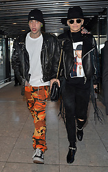 Singer Rita Ora and boyfriend Ricky Hilfiger at Heathrow airport in London, UK. 27/02/2015<br />