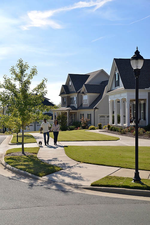 Lifestyle, architectural, and scenic photography of 12 Oaks Community and Golf Club in Holly Springs, North Carolina.