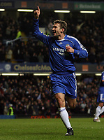 Photo: Paul Thomas.<br /> Chelsea v Wycombe Wanderers. Carling Cup, Semi Final 2nd Leg. 23/01/2007.<br /> <br /> Andriy Shevchenko celebrates his second goal for Chelsea.