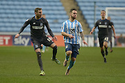 Coventry City Striker Adam Armstrong burst through during the Sky Bet League 1 match between Coventry City and Bury at the Ricoh Arena, Coventry, England on 13 February 2016. Photo by Dennis Goodwin.