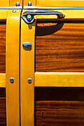 Door Panel Of A Classic Woodie Car