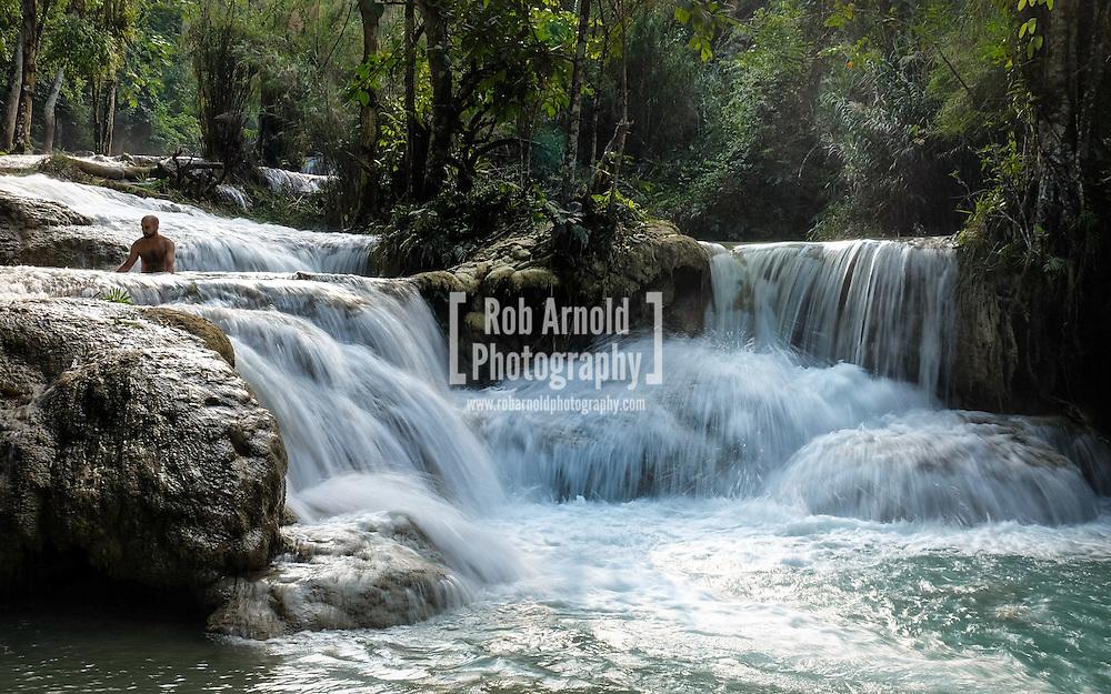 Kuang Si Waterfalls near Luang Prabang, Laos.