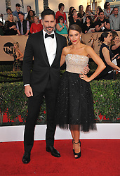 Sofia Vergara and Joe Manganiello at the 23rd Annual Screen Actors Guild Awards held at the Shrine Expo Hall in Los Angeles, USA on January 29, 2017.