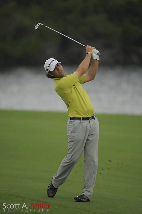 Mathew Goggin hits his second shot on the 14th hole during the second round of the Players Championship at TPC Sawgrass on May 9, 2008 in Ponte Vedra Beach, Florida.     © 2008 Scott A. Miller