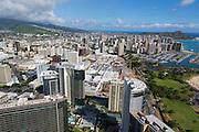 Aerial, Ala Moana Center, Honolulu, Oahu, Hawaii