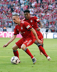 20.04.2019, Allianz Arena, Muenchen, GER, 1. FBL, FC Bayern Muenchen vs SV Werder Bremen, 30. Runde, im Bild Franck Ribery und David Alaba // during the German Bundesliga 30th round match between FC Bayern Muenchen and SV Werder Bremen at the Allianz Arena in Muenchen, Germany on 2019/04/20. EXPA Pictures © 2019, PhotoCredit: EXPA/ SM<br /> <br /> *****ATTENTION - OUT of GER*****