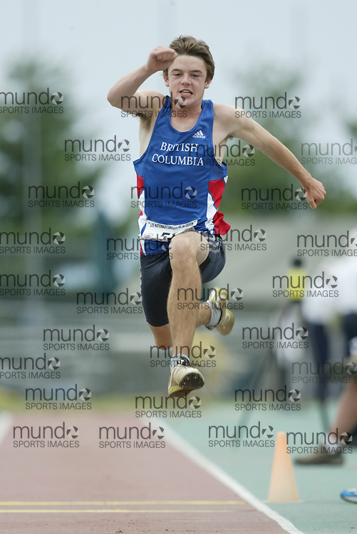 (Sherbrooke, Quebec -- 9 Aug 2009) \\ competes in triple jump at the 2009 Legion Youth National Track and Field Championships. Photograph copyright Sean Burges / Mundo Sport Images  2009.