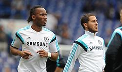 Chelsea's Didier Drogba warms up prior to kick off. - Photo mandatory by-line: Alex James/JMP - Mobile: 07966 386802 - 24/05/2015 - SPORT - Football - London - Stamford Bridge - Chelsea v Sunderland - Barclays Premier League