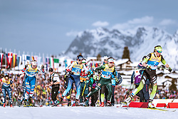 21.02.2019, Langlauf Arena, Seefeld, AUT, FIS Weltmeisterschaften Ski Nordisch, Seefeld 2019, Langlauf, Damen, Sprint, im Bild v.l.: Tereza Beranova (CZE), Laurien Van Der Graaff (SUI), Sandra Ringwald (GER), Anamarija Lampic (SLO) // f.l.: Tereza Beranova of Czech Republic Laurien Van Der Graaff of Switzerland Sandra Ringwald of Germany Anamarija Lampic of Slovenia during the ladie's Sprint competition of the FIS Nordic Ski World Championships 2019. Langlauf Arena in Seefeld, Austria on 2019/02/21. EXPA Pictures © 2019, PhotoCredit: EXPA/ Dominik Angerer