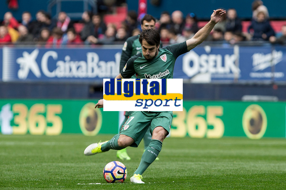 Benat of Athletic Club during the match of  La Liga between Club Atletico Osasuna and Athletic Club Bilbao at El Sadar Stadium  in Pamplona, Spain. April 01, 2017. (ALTERPHOTOS / Rodrigo Jimenez)