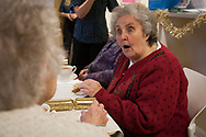 The Storrsdale Medical Centre, Liverpool holding its November tea party for local pensioners. Photos for The The Times charity appeal for Contact the Elderly.