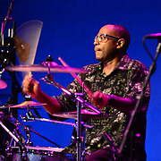 Drummer performing with The Reverend Al Green at The Music Hall in Portsmouth, NH in August of 2012