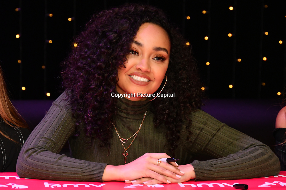 Leigh‑Anne Pinnock sign copies of their latest album 'LM5' at hmv Oxford Street on 19 November 2018, London, UK.