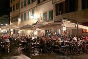 Oltrarno, Piazza Santo Spirito, alfresco dining, Florence, Italy, Florence, Italy