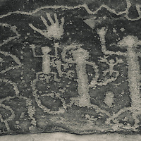 Native American petroglyphs at Mesa Verde National Park in southwest Colorado, USA.