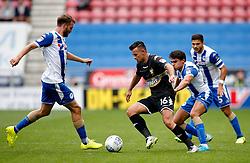 Zeli Ismail of Bury takes on Wigan Athletic's Nick Powell - Mandatory by-line: Matt McNulty/JMP - 13/08/2017 - FOOTBALL - DW Stadium - Wigan, England - Wigan Athletic v Bury - Sky Bet League One