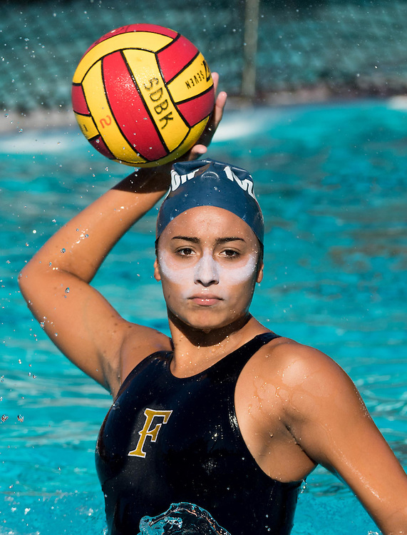 November 3, 2016 - Mission Viejo, CA - Cal State Fullerton College Freshman Bianca Vera warms up in the defeat of Cypress 17-3 to advance to the Semi final round in the Orange Empire Championship at Saddleback College