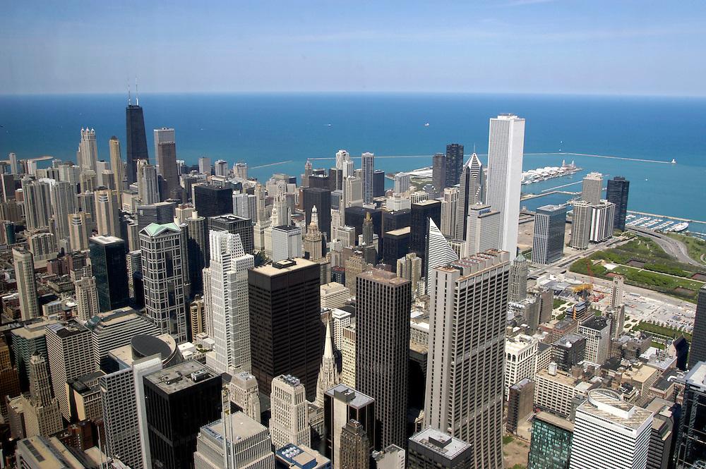 USA,  Illinois, Chicago, Aussicht vom Sears Tower, 103. Etage, Skydeck