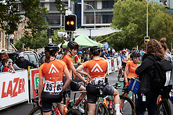 Rally Cycling after Stage 4 of 2020 Santos Women's Tour Down Under, a 42.5 km road race in Adelaide, Australia on January 19, 2020. Photo by Sean Robinson/velofocus.com