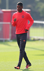Marcus Rashford of Manchester United trains - Mandatory by-line: Matt McNulty/JMP - 14/09/2016 - FOOTBALL - Manchester United - Training session ahead of Europa League Group A match against Feyenoord