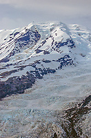 Beerenberg, 7470 ft glacier covered volcano on Jan Mayen in the North Atlantic, Norway. The northern most active volcano in the world.