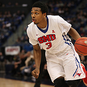 Sterling Brown, SMU, in action during the Temple Vs SMU Semi Final game at the American Athletic Conference Men's College Basketball Championships 2015 at the XL Center, Hartford, Connecticut, USA. 14th March 2015. Photo Tim Clayton