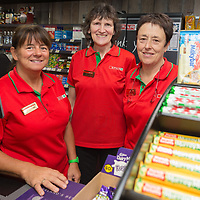 Shop Assistants Phine (Josephine) Cronin, Nancy Brennan and Tikki Daly at the official opening of Gerraghty's Spar in Turnpike