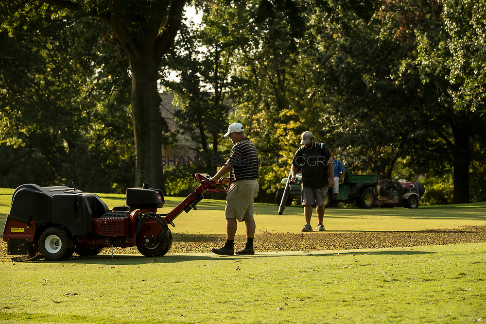 9/25/17 9:03:30 AM -- Bunkers and greens on Cedar Ridge Country Club for Jonesplan. <br /> <br /> Photo by Shane Bevel