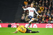 Newport County Defender David Pipe (2) and Tottenham Hotspur Midfielder Christian Eriksen (23) during the The FA Cup 4th round replay match between Tottenham Hotspur and Newport County at Wembley Stadium, London, England on 7 February 2018. Picture by Stephen Wright.
