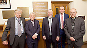 Kinderstransport plaque in Parliament, Westminster, London, Great Britain <br /> 27th January 2017 <br /> <br /> Chief Rabbi and Archbishop of Canterbury to mark Holocaust Memorial Day with Lord Dubs at rededication of Kindertransport plaque in Parliament<br />  <br /> 20 years ago the Committee of the Reunion of the Kindertransport donated a plaque to Parliament commemorating Britain&rsquo;s act of generosity to Jewish children in Nazi-occupied Europe. On Holocaust Memorial Day [27 January 2017], the plaque will be rededicated in the presence of newly arrived child refugees who were reunited with their families from Calais last year by Safe Passage, a project of Citizens UK. <br />  <br /> The ceremony will be particularly poignant as it will be attended by Lord Dubs, himself a Kindertransport survivor, who passed an amendment to the Immigration Act last year, with the Government's support, affording sanctuary in the UK to some of the most vulnerable lone child refugees in Europe.<br />  L to R <br /> <br /> Lord Alf Dubs.<br /> Speaker of the House of Commons, John Bercow, <br /> Chief Rabbi, Ephraim Mirvis, <br /> David Burrowes MP<br /> Archbishop of Canterbury, Justin Welby, <br /> <br /> <br /> Rededication of Kinderstransport plaque in Parliament<br /> <br /> <br /> <br /> <br /> Photograph by Elliott Franks