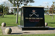 Royal Army Physical Training Memorial at the National Memorial Arboretum, Croxall Road, Alrewas, Burton-On-Trent,  Staffordshire, on 29 October 2018. Picture by Mick Haynes.