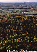 PA landscapes, View from PA Turnpike, Fall Forest, Farms, Franklin Co., Pennsylvania