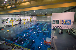 Stock photo of training underway at the NASA Neutral Buoyancy Lab in Houston Texas