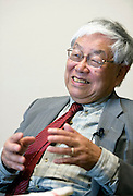 Economist Koichi Hamada speaks during an interview in Tokyo, Japan on 27 May 2013.  Photographer: Rob Gilhooly