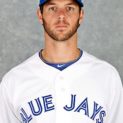 March 2, 2012; Dunedin, FL, USA; Toronto Blue Jays starting pitcher Rick VandenHurk (60) poses for a portrait during photo day at Florida Auto Exchange Stadium.  Mandatory Credit: Derick E. Hingle-US PRESSWIRE