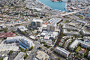 Aerial Stock Photo of Hoag Memorial Hospital in Newport Beach California