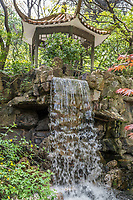waterfall in fuxing park Shanghai in popular republic of China