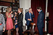 KATE FREUD; MARTHA FREUD; LUKE BLACKALL; JAMES FOX; MARK GETTY, Freud Museum dinner, Maresfield Gardens. 16 June 2011. <br /> <br />  , -DO NOT ARCHIVE-© Copyright Photograph by Dafydd Jones. 248 Clapham Rd. London SW9 0PZ. Tel 0207 820 0771. www.dafjones.com.