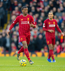 LIVERPOOL, ENGLAND - Saturday, November 30, 2019: Liverpool's Georginio Wijnaldum during the FA Premier League match between Liverpool FC and Brighton & Hove Albion FC at Anfield. (Pic by David Rawcliffe/Propaganda)